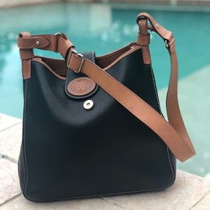Dooney & Bourke Brown and Black Leather Satchel